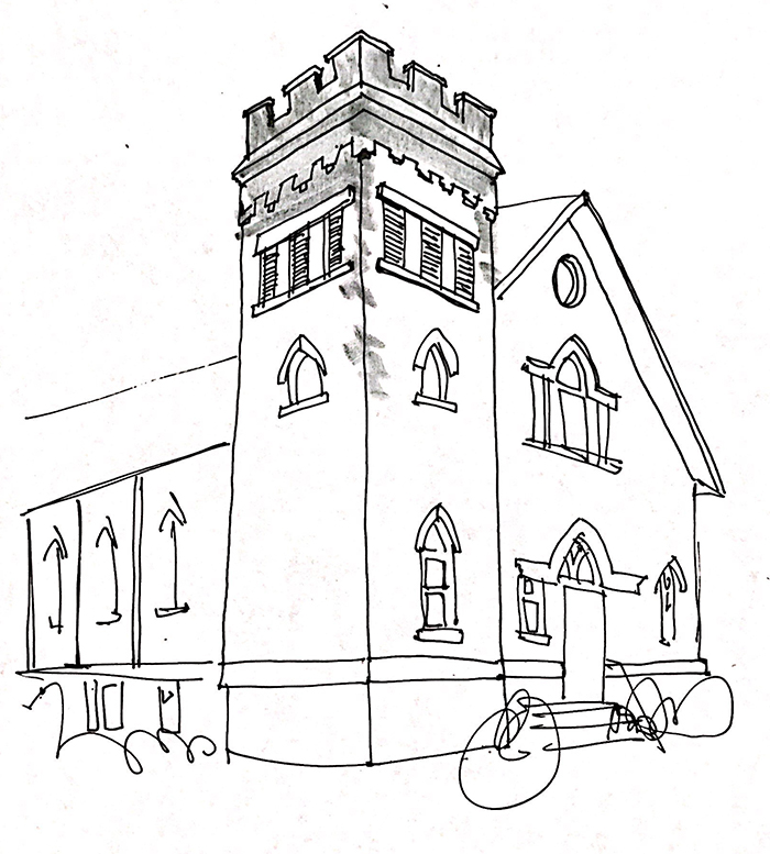 Knox United Church Fernie - Sketch by Ance Building Services